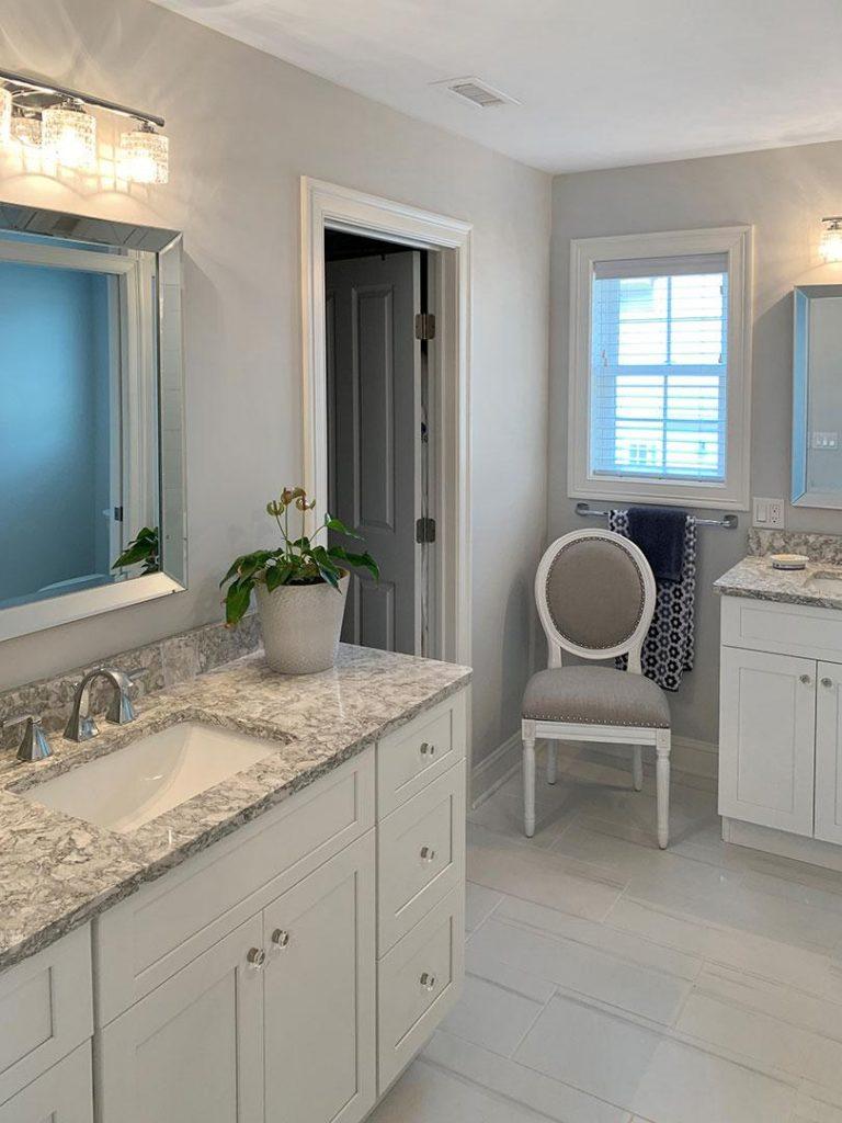 infinity painting bathroom cabinet