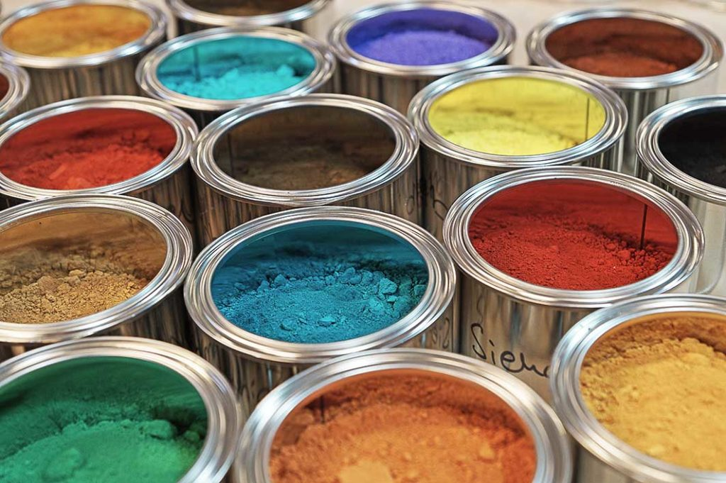 pigments for interior paint cans
